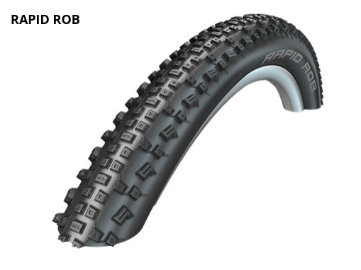 Schwalbe Rapid Rob Active Line 27,5x2,25 650B black white stripes (11101396) 2019