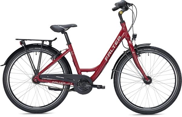 "Falter City / Urban Bike C 3.0 Wave XS (42) 26 ""glossy red"