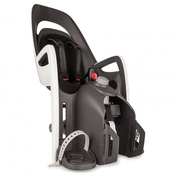 Hamax Caress child bike seat with adapter for luggage carrier black white